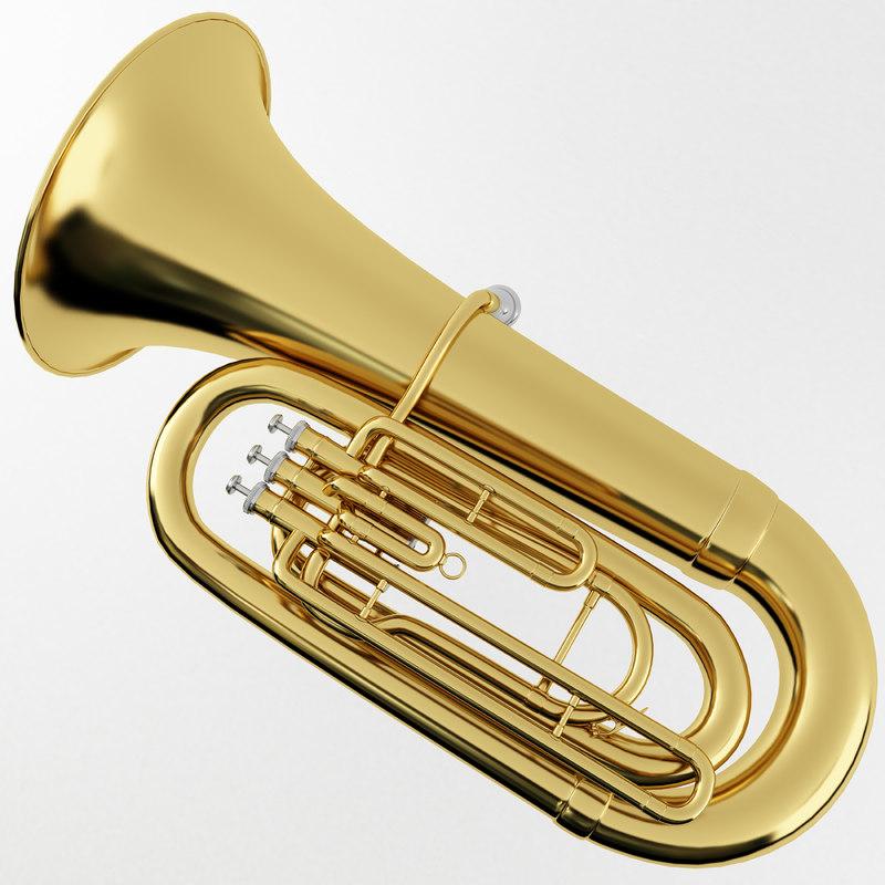 tuba brass 3d model