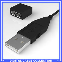 usb cable female connection 3d model