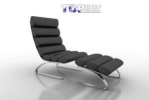 unico modern chaise 3d model