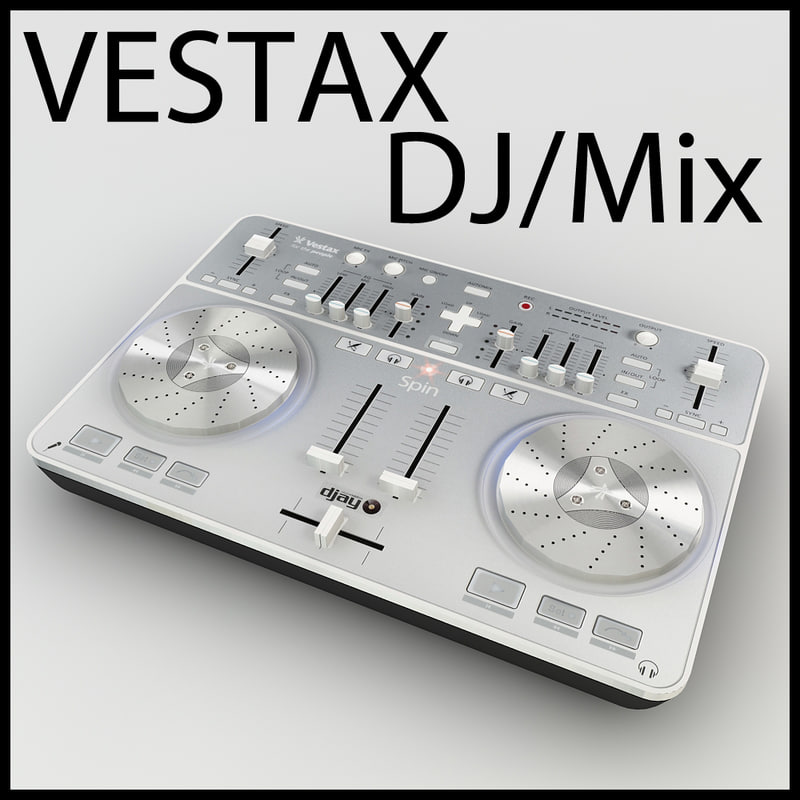 vestax spin dj poly! 3d model