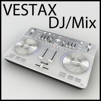 3D Model VESTAX spin DJ Mixer Low Poly!