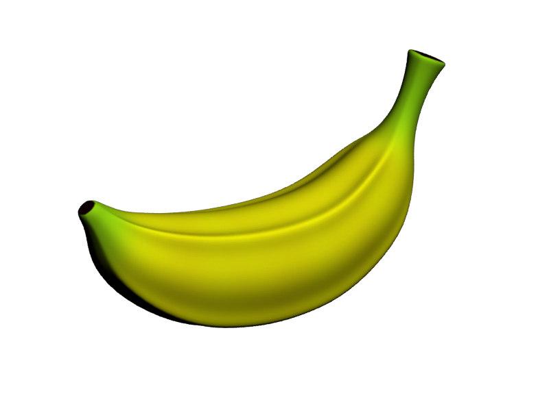3d toon banana model