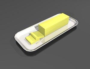 butter dish 3d model