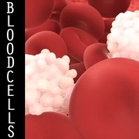 organically red white blood 3d model