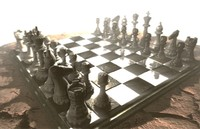 3d model of chess table surreal