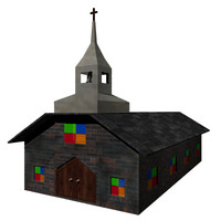 small church 3d model