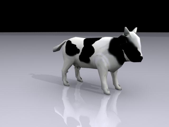 cow polys 3d model