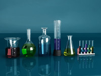 3d laboratory test tube set