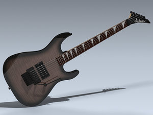 3d electric guitar dinky model