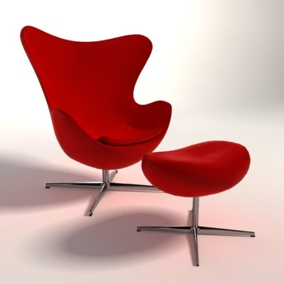 arne jacobsen egg chair 3d c4d