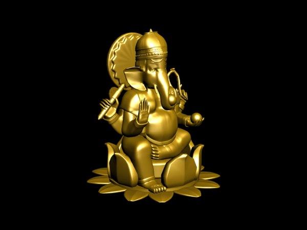 free ganesh hindu ganesha 3d model