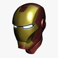 3d model ironman helmet iron man