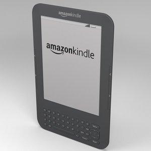 amazon kindle electronic 3d model