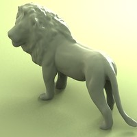 cat feline sculpture 3d model