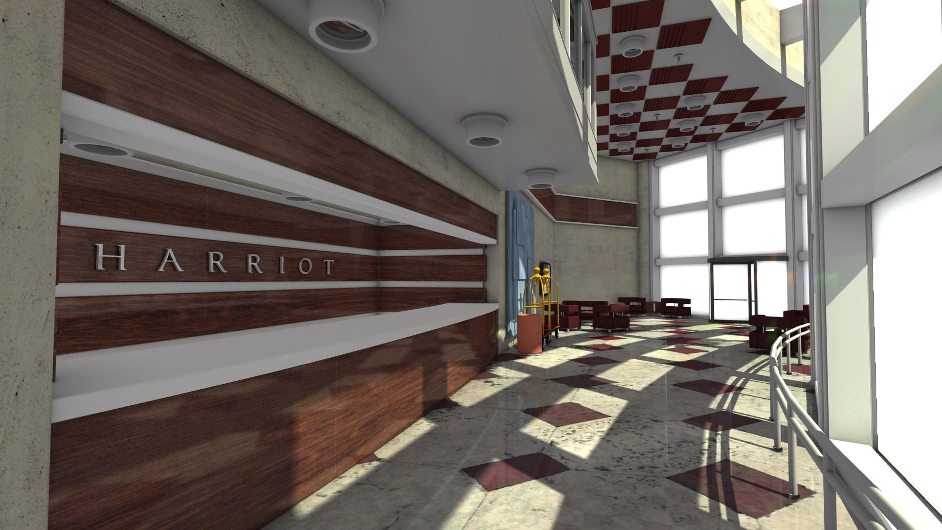 hotel lobby 3d x
