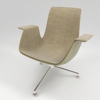 3d walter knoll fk lounge chair