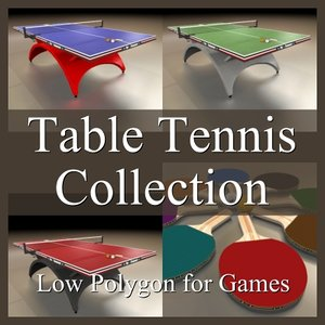 table tennis 3d model
