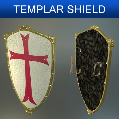 shield templars 3d model