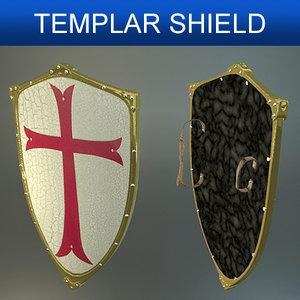 shield templars 3d model