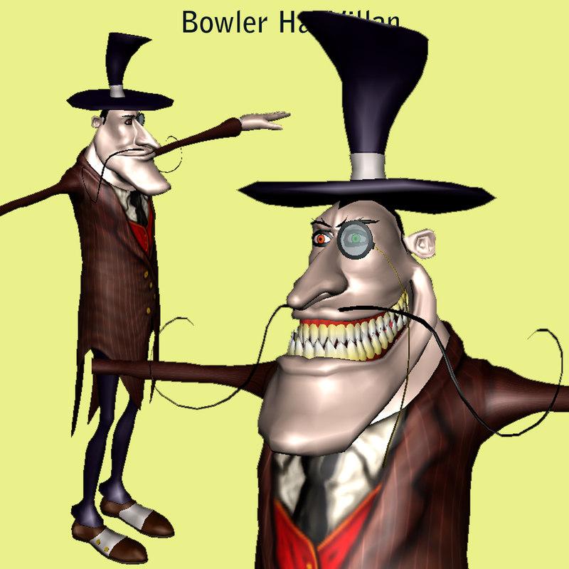 man character evil 3d model