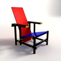 gerrit thomas rietveld red 3d model