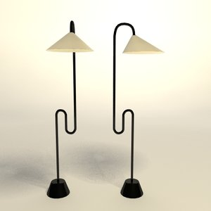 eileen gray roattino floor lamp 3d model