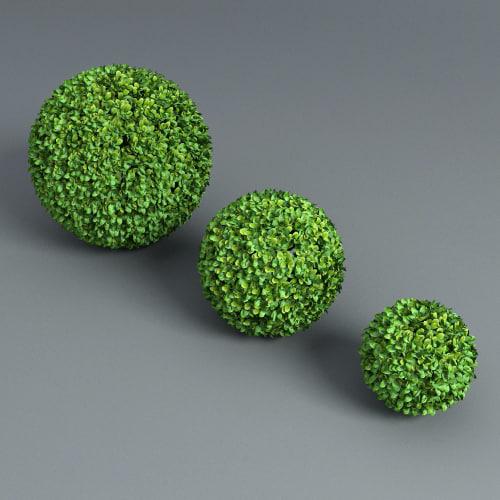 spheres hedge 3d model