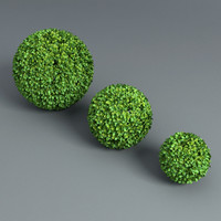 spheres hedge 3d model