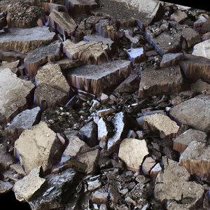 stone debris 3d model