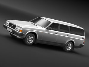 240 wagon 3d model