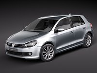 volkswagen golf 6 bluemotion 3d model