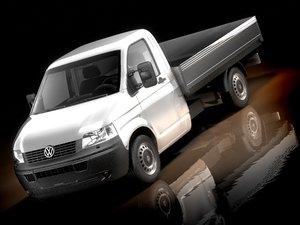 volkswagen transporter pickup 3d model