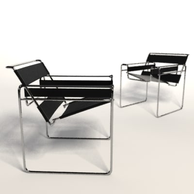 marcel breuer wassily chair 3d model