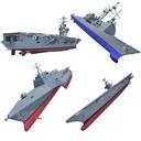 US Navy Ships 3D Models V8