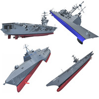3d model navy h ship