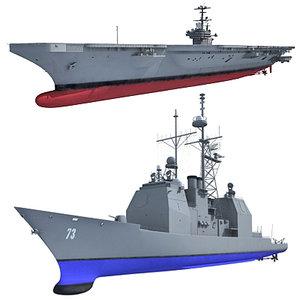 navy h ship 3d model
