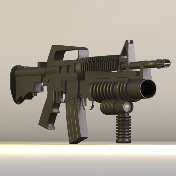 m4 grip tactical 3d model