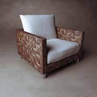 woven armchair 3d model