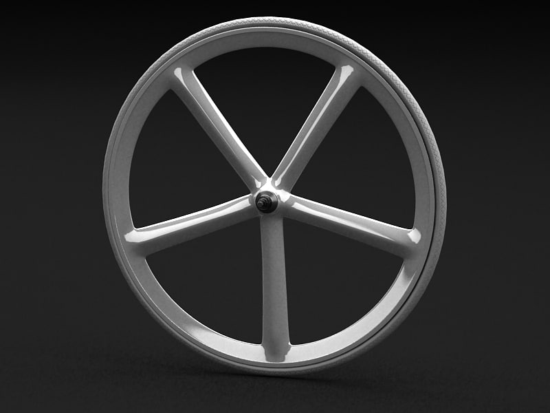 bicycle wheel cycle 3d model