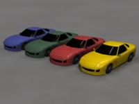 3d obj rx7 car