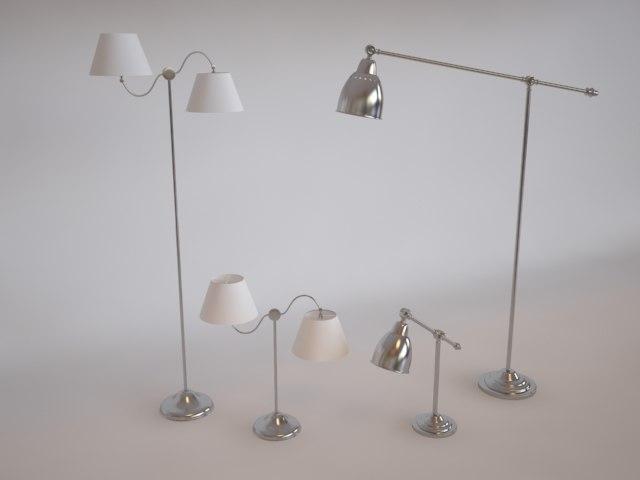 barometer lamp 3d model