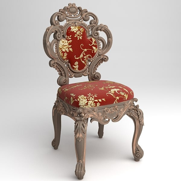 cornelio cappellini baroque chair 3d model