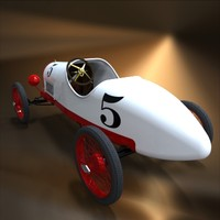 vintage racer torpedo body 3d model