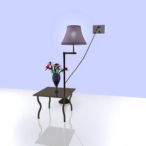 lamp pot 3d obj