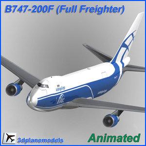 b747-200 cargo 747 3d model