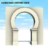 tileable archway architecture 3d model