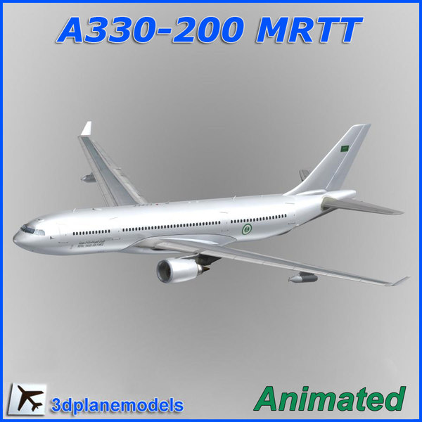 airbus a330 tanker transport 3d model
