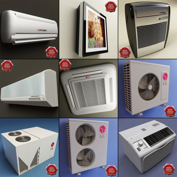 air conditioners v4 3d model