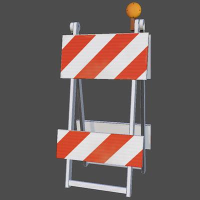 road barricade 3d max