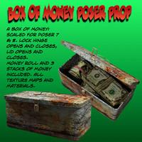 box poser money 3d model